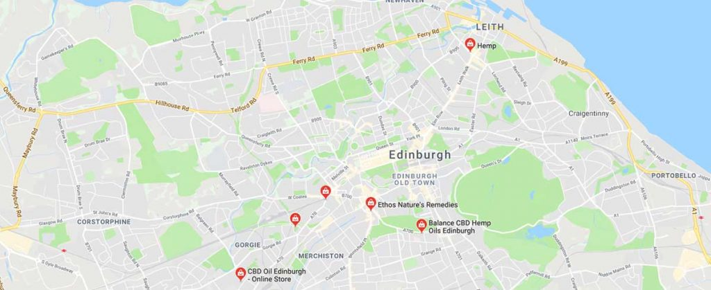 Where to buy CBD oil in Edinburgh, Scotland.