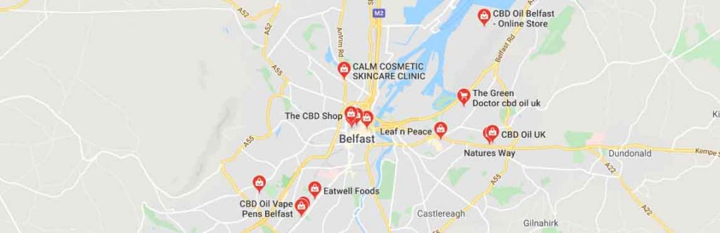 Where to find CBD oil in Belfast, Northern Ireland.