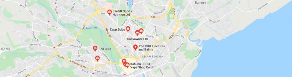 Where to find CBD oil in Cardiff, Wales.