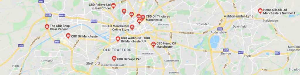 Where to find CBD oil in Manchester, England.